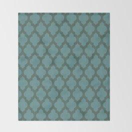 Turquiose Moroccan Throw Blanket