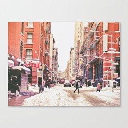 New York City Snow Soho Canvas Print