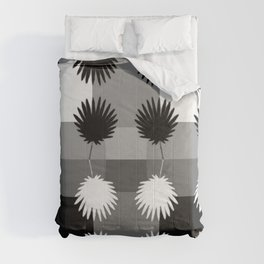 Black And White Tropical Leaves Pattern Comforters