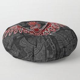 Eagle Tattoo Style Haida Art Floor Pillow