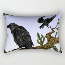 Huginn and Muninn Rectangular Pillow