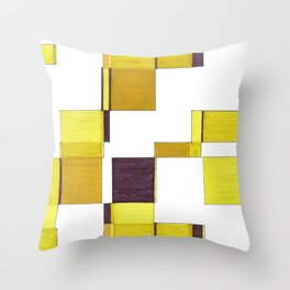 Squared field Throw Pillow