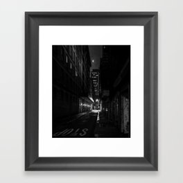 Back Alley Beauty in Black and White Framed Art Print