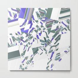 Swimming Outward Metal Print