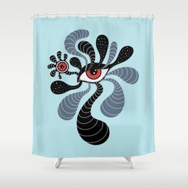 Abstract Surreal Double Red Eye Shower Curtain