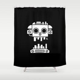 Mechanical Jolly Roger - PM Shower Curtain