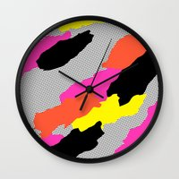 mars Wall Clocks featuring Mars by Tyler Spangler