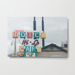 Motel Cafe - Weed, CA Metal Print