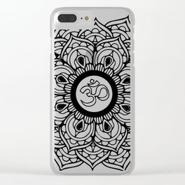 Om Hindu sacred sound symbol Mandala Clear iPhone Case