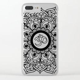 Om Hindu sacred sound symbol Mandala Clear iPhone Case