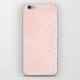 Rose Gold Pastel Pink Foil Paint Line Dots XXIII iPhone Skin