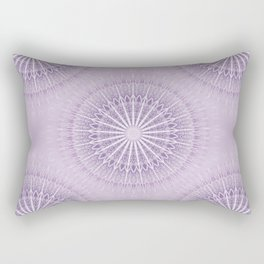 Lavender Geometric Mandala Rectangular Pillow