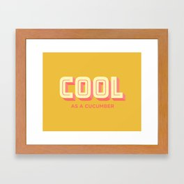 Cool As A Cucumber Framed Art Print