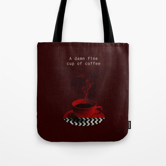 """Twin Peaks"" - A damn fine cup of coffee Tote Bag"