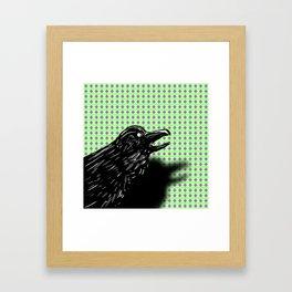 Kaw! Framed Art Print