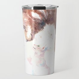 The bear, the cat and the tree of truth Travel Mug