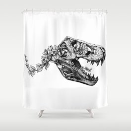 Jurassic Bloom - The Rex.  Shower Curtain