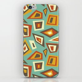 African Abstract Geometric Retro iPhone Skin