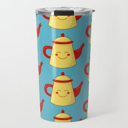 Tea pot smile Travel Mug