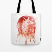 30 seconds to mars Tote Bags featuring Mars by Robert Farkas