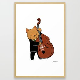 Norwich Terrier Jazz Musician (Dogs with Jobs series) Framed Art Print