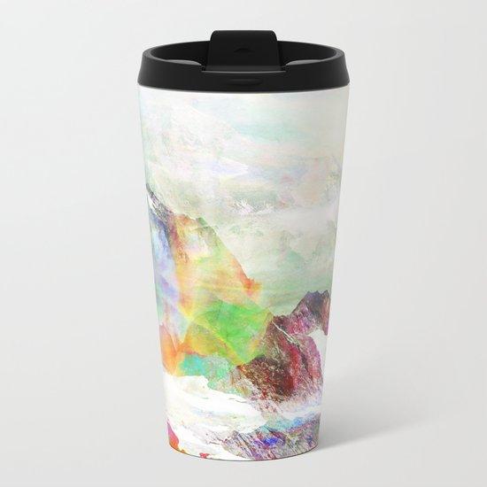 Glitch Mountain Metal Travel Mug