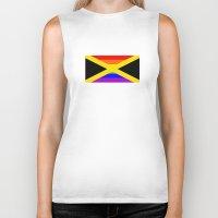 jamaica Biker Tanks featuring jamaica country gay flag homosexual by tony tudor