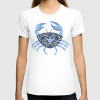 crab T-shirts featuring Blue Crab by Cat Coquillette
