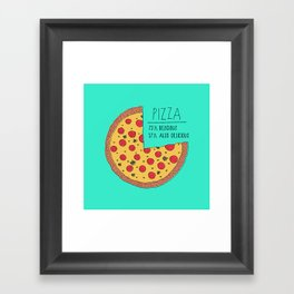 Pizza Pie Chart Framed Art Print