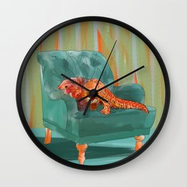 animals in chairs #5 the Pangolin Wall Clock