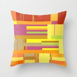 Scandinavian Moon (Fruit Colours) Throw Pillow