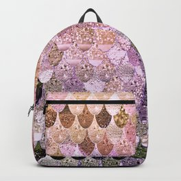 SUMMER MERMAID MOONSHINE  GOLD 2 Backpack