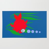 goldfish Area & Throw Rugs featuring Goldfish by lescapricesdefilles