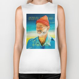 Life aquatic is very cool Biker Tank