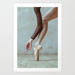 Ballet pointe. Art Print