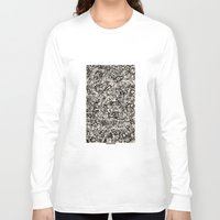 newspaper Long Sleeve T-shirts featuring - newspaper - by Magdalla Del Fresto