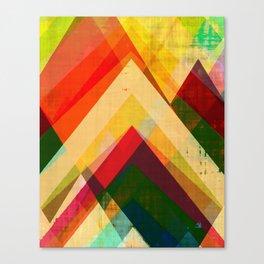 mountain print, abstract art, abstract print, giclee print, giclee art print, violet art, earth colo Canvas Print