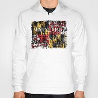 maryland Hoodies featuring Maryland Flag Print by david zobel