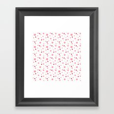 Ladybugs & Swirls Framed Art Print
