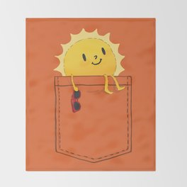 Pocketful of sunshine Throw Blanket