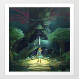 Breath of the wild : Link's Fate Art Print