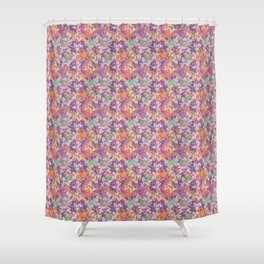 Tropical summer rainforest party Shower Curtain