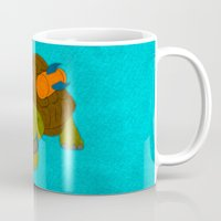 tortoise Mugs featuring Tortoise by subpatch