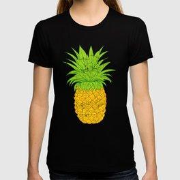 Retro Fruit Cool Pineapple Graphic T-shirt Summe rBeach Hawaii Holidays Hawaiian Juice Sunbathe  T-shirt