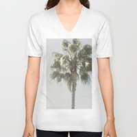palm tree V-neck T-shirts featuring Palm Tree by Pure Nature Photos