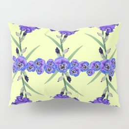 PURPLE WHITE IRIS & PANSIES GARDEN Pillow Sham