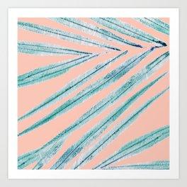 palm leaf coral Art Print