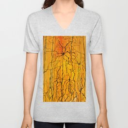 Neural Activity (An Ode to Cajal) Unisex V-Neck