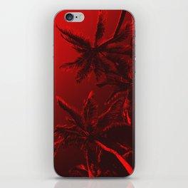 Vallarta Palms Red iPhone Skin