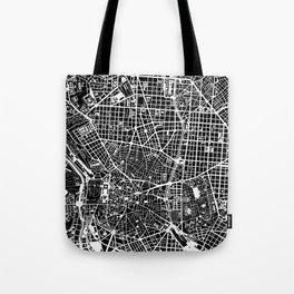 Madrid city map black&white Tote Bag